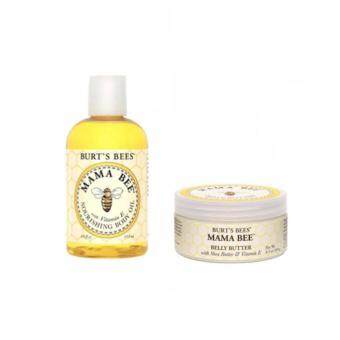 Harga Burt's Bees Mama Bee Belly Butter 6.5 oz (185 g) + Burt's Bees Mama Bee Nourishing Body Oil 4 fl oz (115 ml) แพคคู่