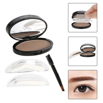 Harga PNF Brow Stamp Powder Eye Brow Enhancer Delicate Natural Brow With Brush Mirror 2 Pairs Stamps 1# Bright Brown - intl