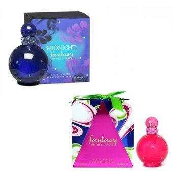 Harga Britney Spears Fantasy EDP 100 ml. พร้อมกล่อง + Britney Spears Midnight Fantasy EDP 100 ml.พร้อมกล่อง