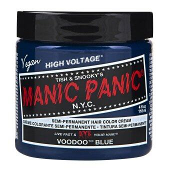 Harga MANIC PANIC - CLASSIC CREAM SEMI PERMANENT HAIR COLOR CREAM 118 ml (1 Jar) (VOODOO BLUE)