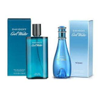 Harga Davidoff Cool Water for Men 125 ml. and Davidoff Cool Water for Women 100 ml.