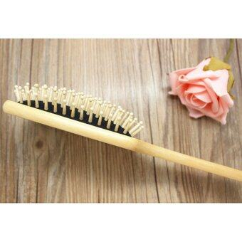 Harga Cosmetic New 10inch BIG Wooden Paddle Brush Wooden hair Care Spa Combs Comb Anti-static Combs Comb