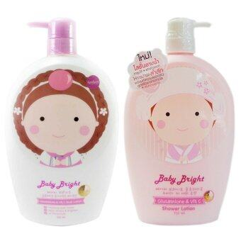 Harga karmart Baby Bright Gluta-Thione and Vit C Body Lotion 750ml. + Baby Bright Glutathione & Vit c 750 ml