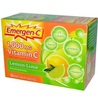 Harga Emergen-C, Vitamin C, Flavored Fizzy Drink Mix, Lemon-Lime, 1,000 mg, 30 Packets