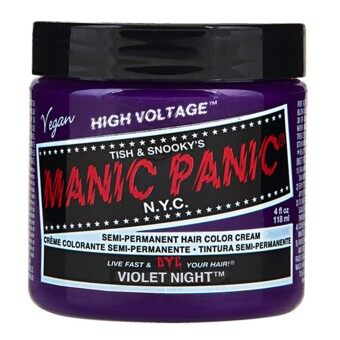 Harga MANIC PANIC - CLASSIC CREAM SEMI PERMANENT HAIR COLOR CREAM 118 ml (1 Jar) (VIOLET NIGHT)