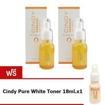 Harga Anna Bee Cindy Completed Night Essence 18g x2 แถมฟรี Anna Bee Cindy Pure white Toner 18g.x1