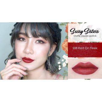 Harga Sassy Sisters Matte Liquid Lipstick #S08 Red on fleek