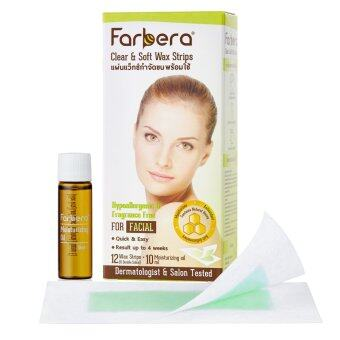 Harga Farbera Clear & Soft Wax Strips For facial 12 แผ่น