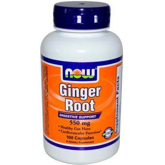 Harga NOW Foods Ginger Root 550 mg - 100 Capsules