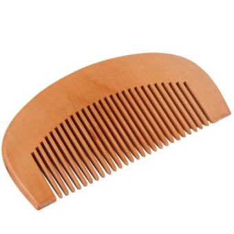 Harga Allwin Natural Wide Tooth Wood Comb Peach Wood no-static Massage Hair Health Comb Wooden