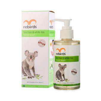 Harga Rebirth Tea Tree & White tea Facial wash 100 ml.