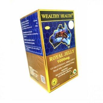 Harga Wealthy Health นมผึ้งโดม Wealthy Health Royal Jelly 1000mg (365 capsules)