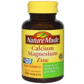 Harga Nature Made Calcium Magnesium Zinc - 100 Tablets