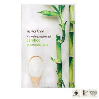Harga Innisfree It's Real Squeeze Mask Bamboo (3แผ่น)