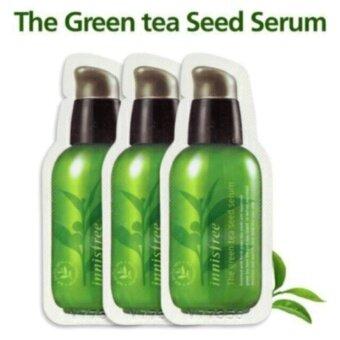 Innisfree The Green Tea Seed Serum 1 ml. เซรั่มสารสกัดจากใบชาเขียว (ขนาดทดลอง 3 ซอง)