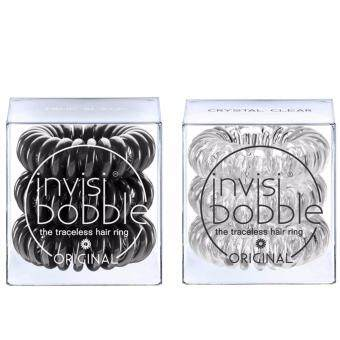 invisibobble duo pack (สี crystal clear+true black)