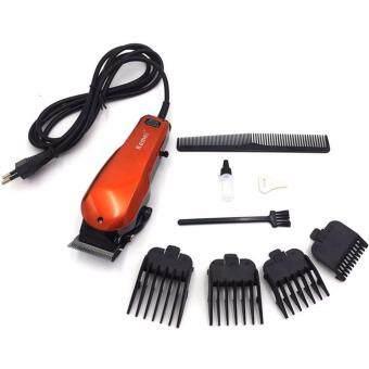 KEMEI ปัตตาเลี่ยนไฟฟ้าสีส้ม แบตเตอเลี่ยนตัดผมแบบมีสาย แบตเตอร์เลี่ยนเด็ก แบตตาเลี่ยนตัดผม เครื่องตัดผม อุปกรณ์ตัดผมชาย ที่ตัดผมเด็ก Electric Hair Clipper/Trimmer For Men & Women