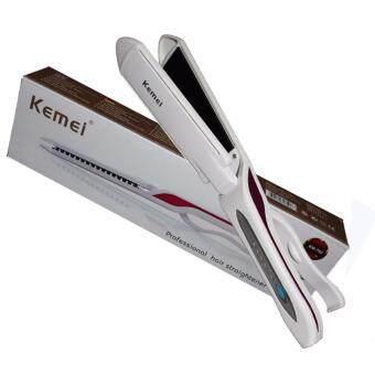 Kemei เครื่องหนีบผมตรง รุ่น KM-750 สีขาว