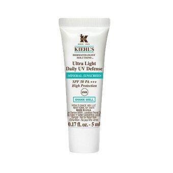 KIEHL'S Ultra Light Daily UV Defense Mineral Sunscreen SPF50 PA+++ครีมกันแดด สำหรับผิวบอบบางและเป็นสิวง่าย ไม่ทิ้งคราบขาวไม่อุดตันรูขุมขน 5ml (1 หลอด)