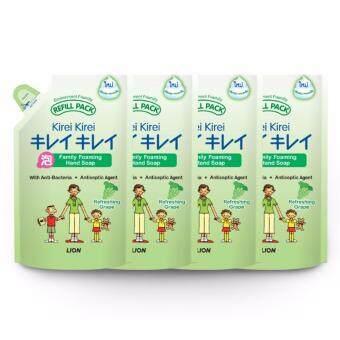Kirei Kirei คิเรอิ คิเรอิ โฟมล้างมือ รีฟิล กลิ่นองุ่น 200X4 มล. - แพ็ค 4 ถุง