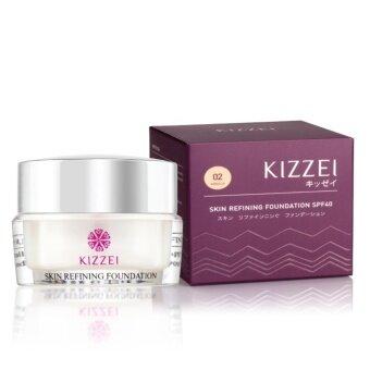 KIZZEI กันแดด 3in1 ไม่ต้องทาแป้ง Skin Refining 5g. (เบอร์ 02 ผิวแทน/ผิวเข้ม)