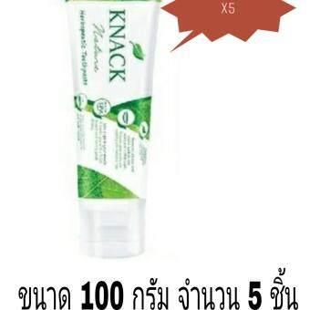 ยาสีฟัน KNACK Nature ขนาด 100 กรัม จำนวน 5 ชิ้น