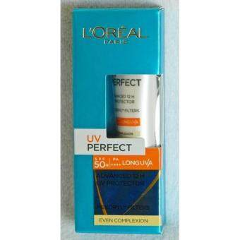 L'Oreal UV Perfect Advanced 12H UV Protector Even Complexion SPF 50+/PA+++ 15ml. ลอรีอัล ยูวี เพอร์เฟคท์ แอดวานซ์ 12 ชม.ครีมกันแดด