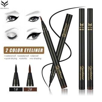 Lady Eyeliner Pencil Waterproof Long Lasting Eye Liner Pen Make UpBeauty Tool (Black) - intl