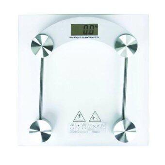 เครื่องชั่งน้ำหนักจอ LCD ดิจิตอล กระจกใสนิรภัย Tempered Glass หนา 6 มม. (Clear White)