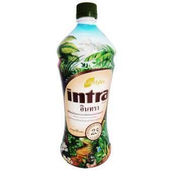 LifeStyles Intra อินทรา น้ำผลไม้และสมุนไพรสกัดเข้มข้น 23 ชนิด บำรุงสุขภาพ ต่อต้านอนุมูลอิสระ ล้างสารพิษ ขนาด 950 ml.(1ขวด) แถม Fiorae papaya soap สบู่สมุนไพรมะละกอ ฟิออเร่ 1 ก้อน มูลค่า 50 บาท