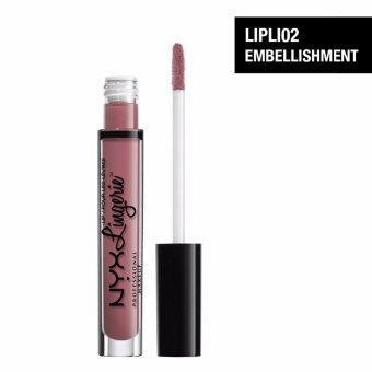 นิกซ์ โปรเฟสชั่นแนล เมคอัพ ลิป ลองเจอเร - LIPLI02 เอมเบลลิชเมนท์ ลิปสติก ลิปจิ้มจุ่ม NYX Professional Makeup Lip Lingerie - LIPLI02 Embellishment Liquid Lipstick