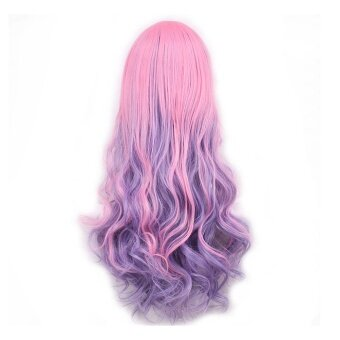 Long Curly Wavy Hair Wigs for Cosplay Party Halloween ChristmasHigh Temperature Fiber Full Lolita Wigs Color D - intl