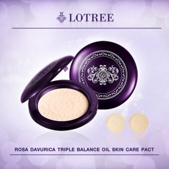Harga LOTREE Rosa Davurica Triple Balance Oil Skin Care Pact #21สำหรับผิวผสม-ผิวมัน