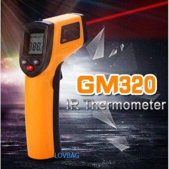 LOVBAG GM320 IR ดิจิตอลเลเซอร์อินฟราเรดเลเซอร์ปืนจออุณหภูมิจุด-50-380
