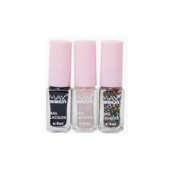 MAX DONA Nail Color (Set 3 Color)ยาทาเล็บ ยาทาเล็บเกาหลี ยาทาเล็บชุด3สี(ไล่โทนสี) No.8
