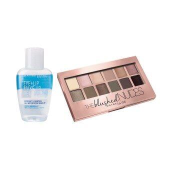 Maybelline เซ็ท เดอะ บลัช นู้ดส์ พาเลทท์ และ อาย & ลิป เมคอัพ รีมูฟเวอร์ Set the Blushed Nude Palette + Lip&Eye Makeup Remover