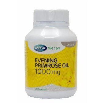 Mega Evening Primrose Oil อีฟนิ่งพริมโรส บำรุงผิวให้ชุ่มชื้น 30แคปซูล (Yellow)