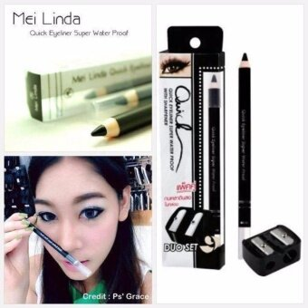 Harga ������������ ������������������������������ #!���������������������!# Mei Linda Quick Eyeliner Super Water Proof with Sharpener