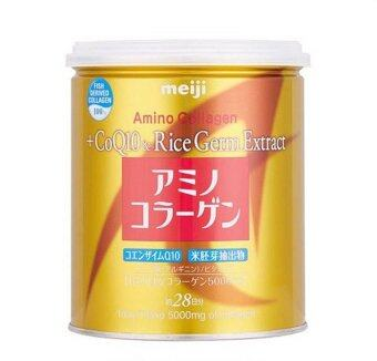 Meiji Amino Collagen CoQ10Rice Germ Extract GOLD กระป๋องทอง 200g.