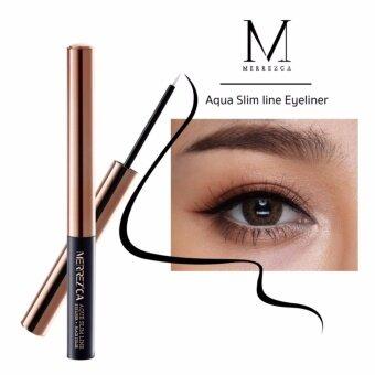 อยากขาย Merrez'ca Aqua Slim Line Eyeliner 2g. เมอเรสก้า อายไลน์เนอหัวพู่กัน สีดำ