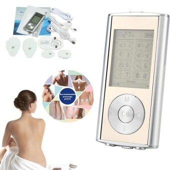 Mini Dual LCD Digital Therapy Therapeutic Tens MP3 Stimulator Massager US Plug - intl