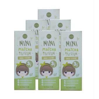 น้ำตบชาเขียวมัทฉะ mini matcha serum 10 ml. ( 6 กล่อง )
