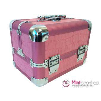 Mintbearshop กระเป๋าเครื่องสำอางค์ แบบ 2 ชั้น ขนาด (17x25x18) cm.รุ่น BB02 (สีชมพู)