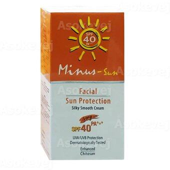 Harga Minus-Sun Facial Sun Protection Silky Smooth Cream SPF40 PA+++ #Ivory
