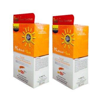 Minus-Sun Facial Sun Protection SPF 50+ PA+++ - Ivory 15 g.(2 หลอด)