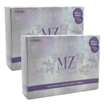 อยากขาย MINZOL Whitening Repair Night Cream ครีมมินโซลเซ็ต หน้าขาว กระจ่างใส ไร้สิว (2กล่อง)