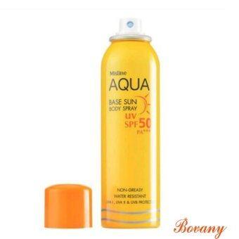 Mistine Aqua Base สเปรย์กันแดดสำหรับผิวกาย UV SPF 50 PA+++
