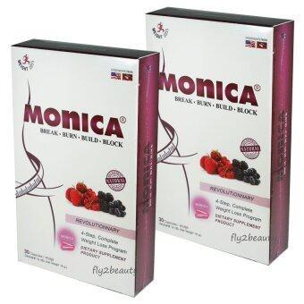 Monica โมนิก้า อาหารเสริมลดน้ำหนัก เร่งการเผาผลาญ ผอมเร็วคูณ 4ระเบิดไขมันกระจาย น็อคไขมันตั้งแต่ยกแรก ขนาด 30 แคปซูล (2 กล่อง)