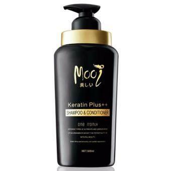 Mooi Keratin Plus ++ Shampoo & Conditioner โมอิ เคราติน พลัสแชมพู แอนด์ คอนดิชันเนอร์ ปริมาณสุทธิ 500ml. (1 ขวด)