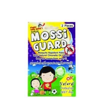 2560 Mossi Guard แผ่นแปะกันยุง จากธรรมชาติปลอดภัย ไม่มีสารเคมี 15ซอง 30แผ่น